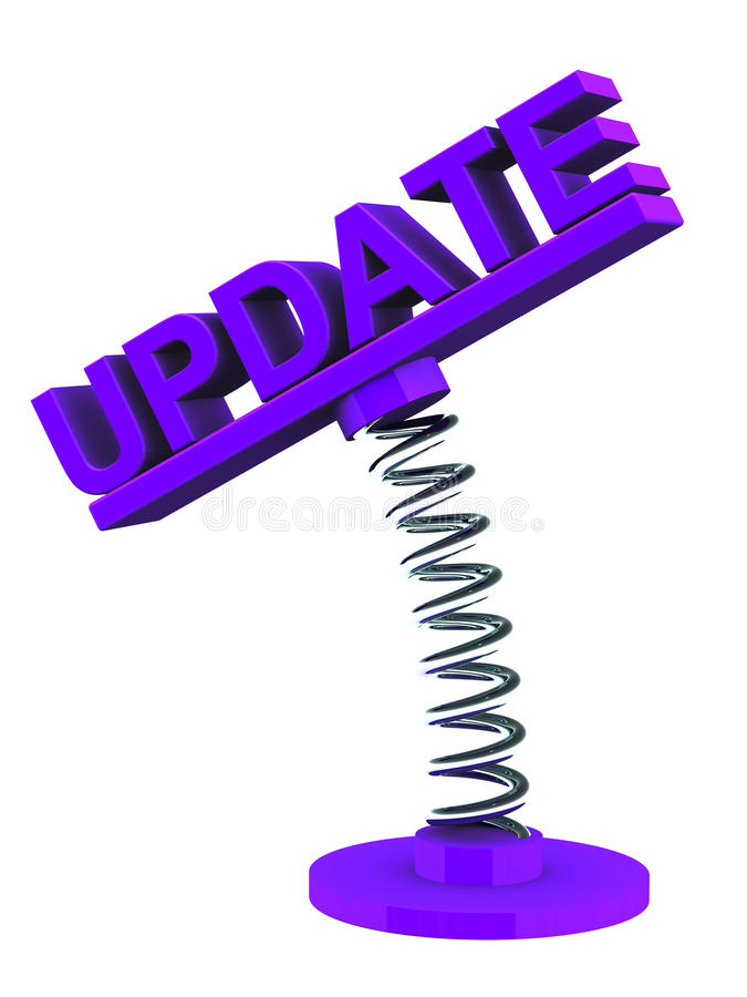 Software update stock illustration