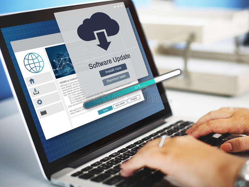 Software Update Installation Upgrade Data Concept stock photography