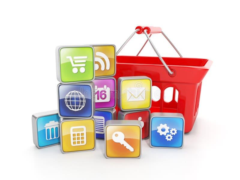 software voor mobiele apparaten royalty-vrije illustratie