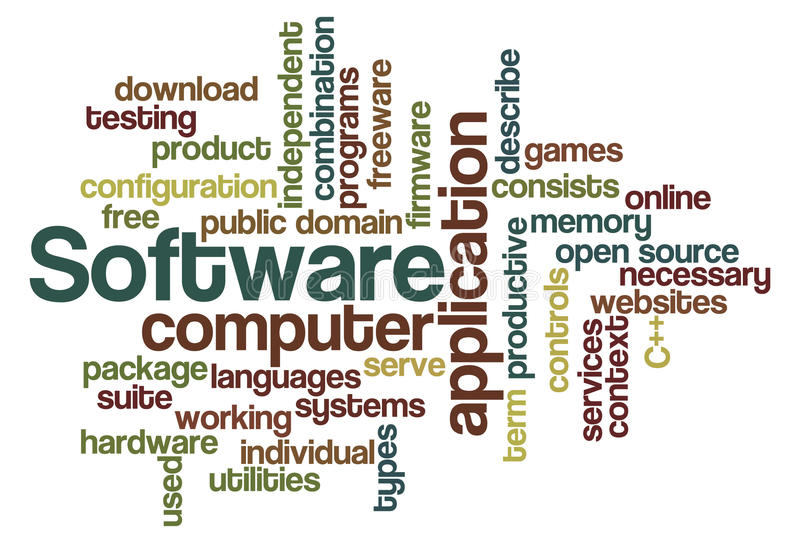 Download Software - Word Cloud stock illustration. Illustration of open - 14350657