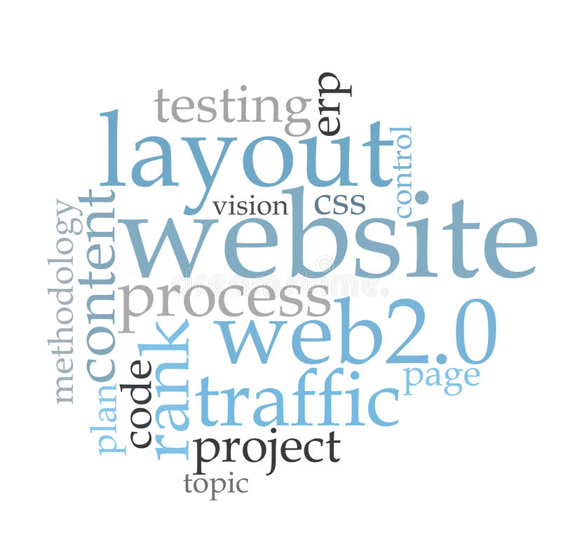 Software word cloud. Software usability word cloud on white background royalty free stock images