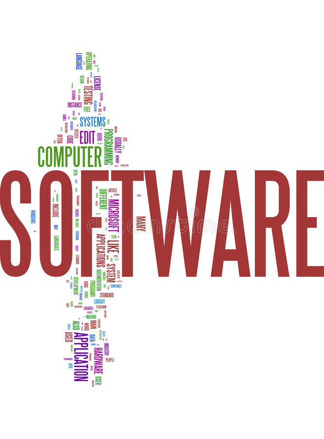 Software word collage royalty free illustration