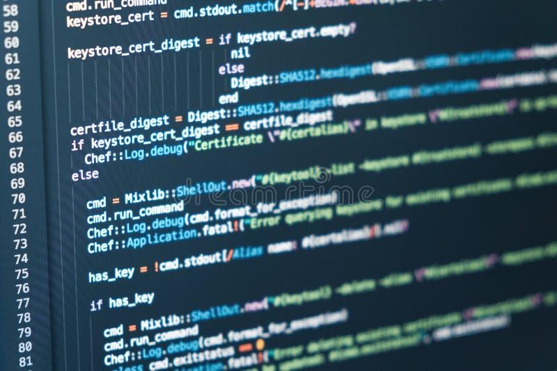 Softwareentwicklerprogrammiercode Abstraktes backgroung lizenzfreies stockfoto