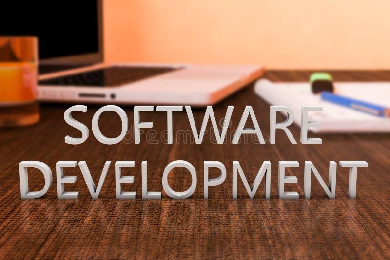 Softwareentwicklung lizenzfreie abbildung