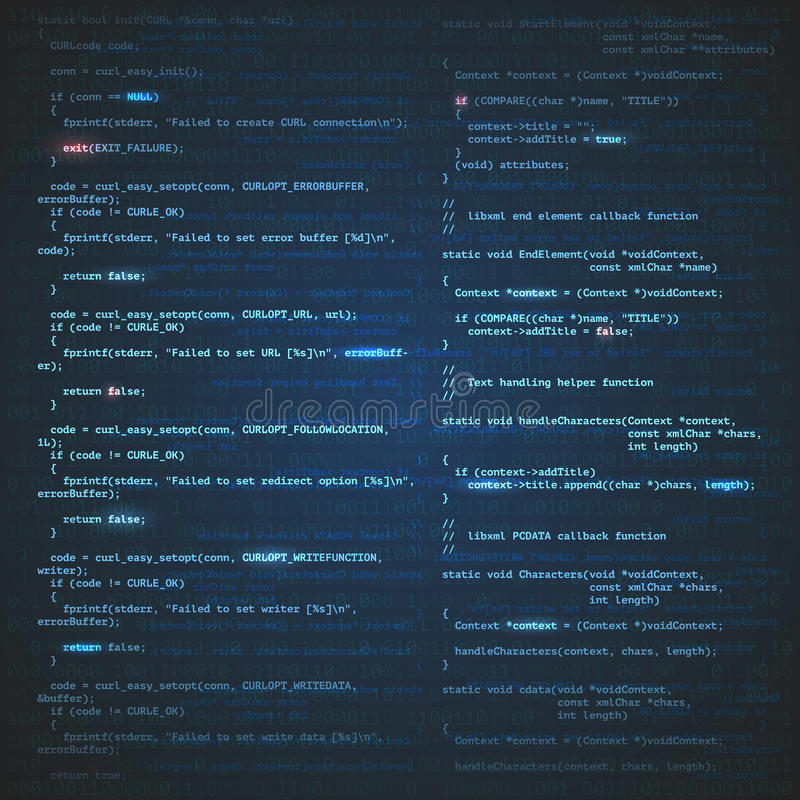 Softwaretechnikhintergrund vektor abbildung