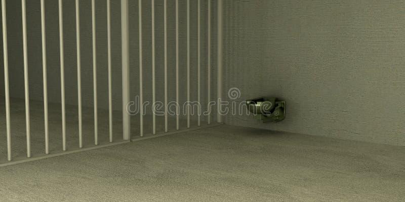 Sogar im Gefängnis stockfotografie