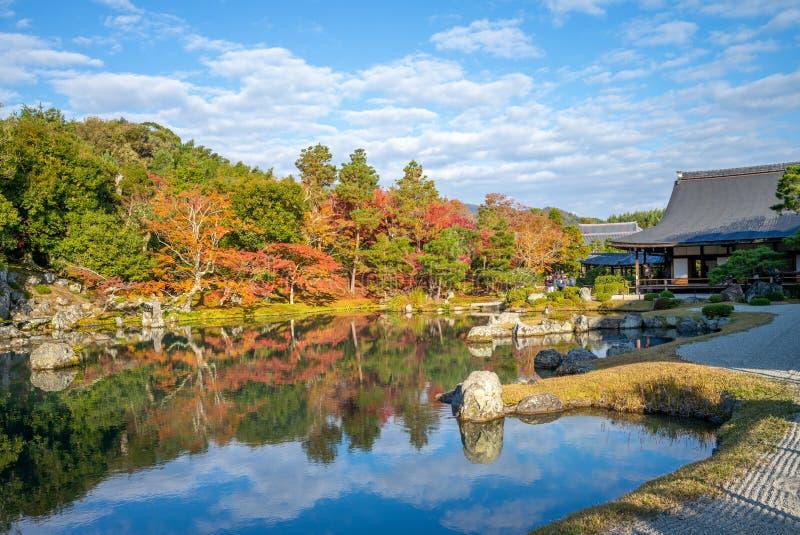 Sogenchi Teien en el templo de Tenryuji imagenes de archivo
