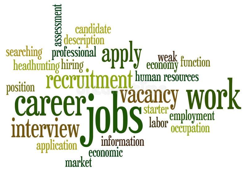 Soggetti di job illustrazione vettoriale