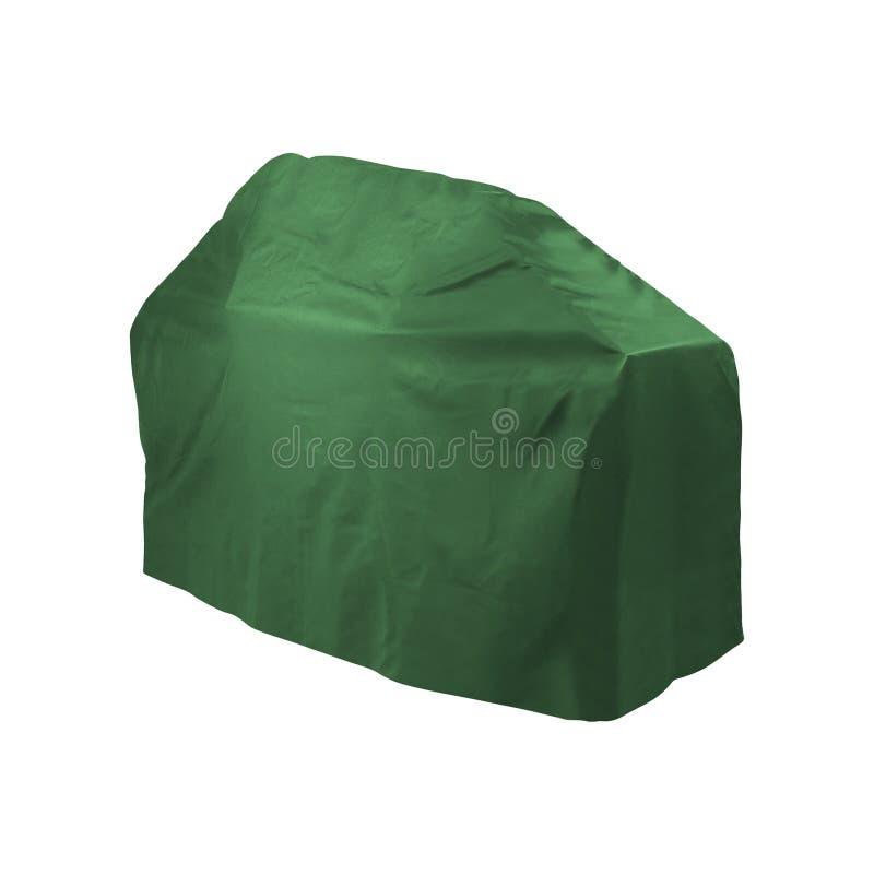 Soggetto trattato di panno verde su un bianco fotografia stock