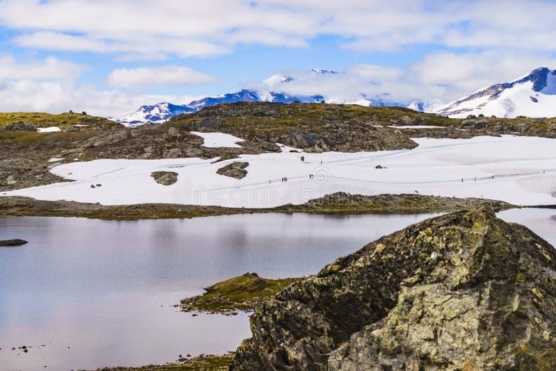 Sognefjellet越野滑雪,挪威 库存图片