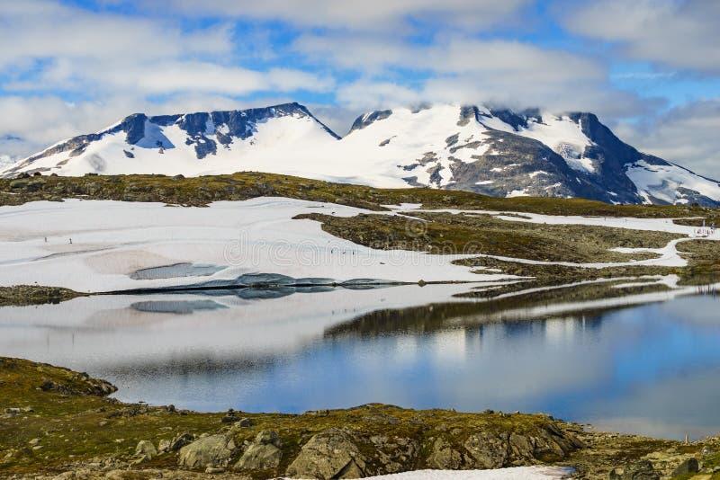 Sognefjellet越野滑雪,挪威 图库摄影