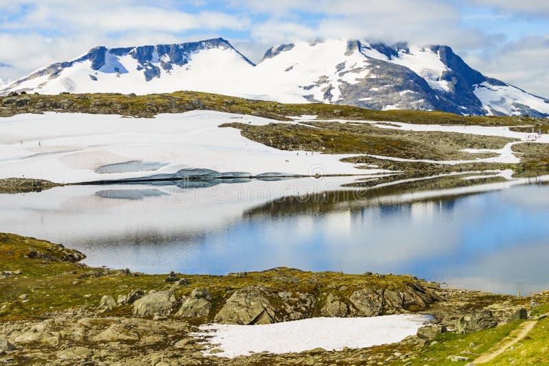 Sognefjellet越野滑雪,挪威 免版税库存图片