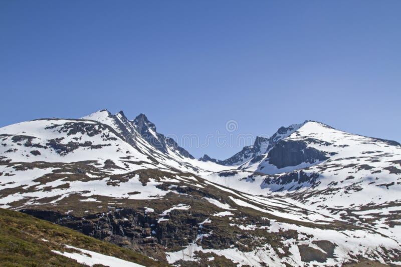 Sognefjellsvegen en Noruega foto de archivo libre de regalías