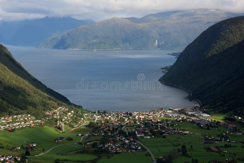 sognefjord 免版税库存照片