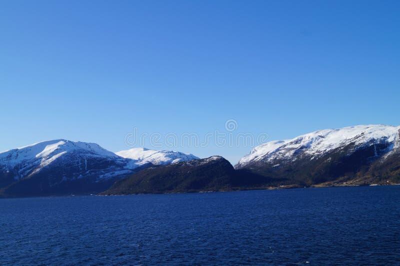 Sognefjord em Noruega imagens de stock