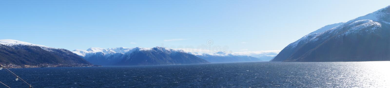 Sognefjord em Noruega fotografia de stock