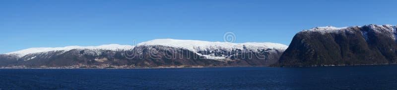 Sognefjord em Noruega imagem de stock