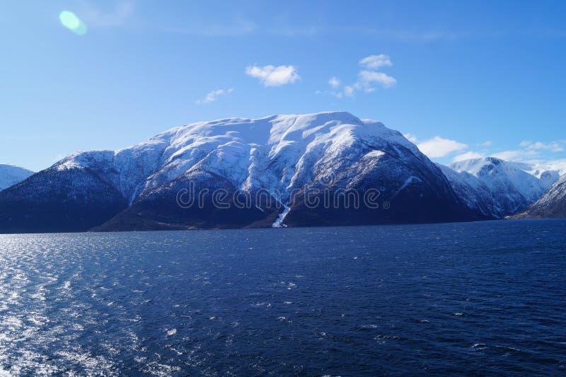 Sognefjord em Noruega foto de stock