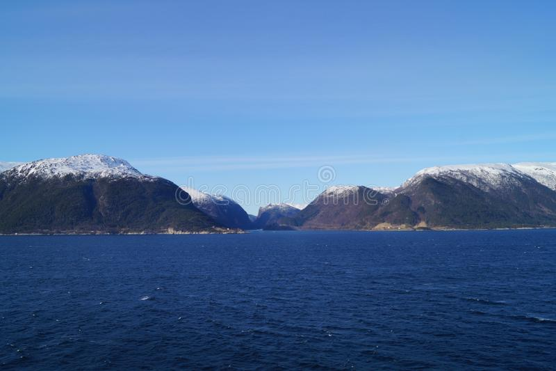 Sognefjord em Noruega fotos de stock
