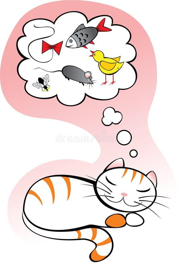 Sogni del gatto royalty illustrazione gratis