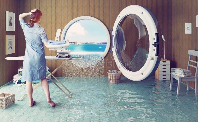 Sogni della casalinga illustrazione di stock