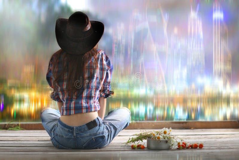Sogni della ragazza americana immagini stock libere da diritti