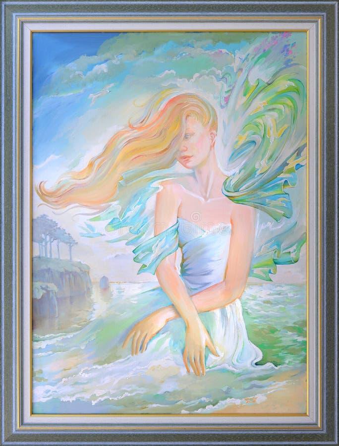 Sogni delle signore Pittura a olio su tela di canapa fotografie stock libere da diritti