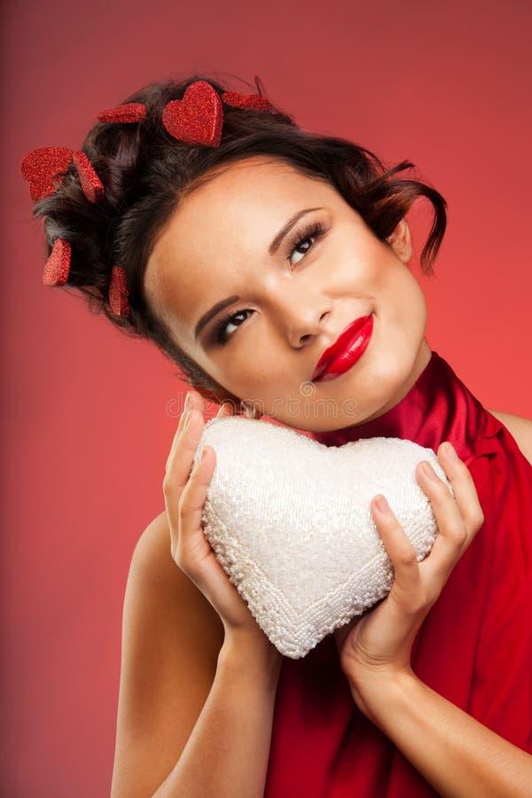 Sogni di giorno del biglietto di S. Valentino immagini stock