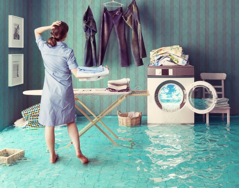 Sogni di lavoro domestico illustrazione vettoriale