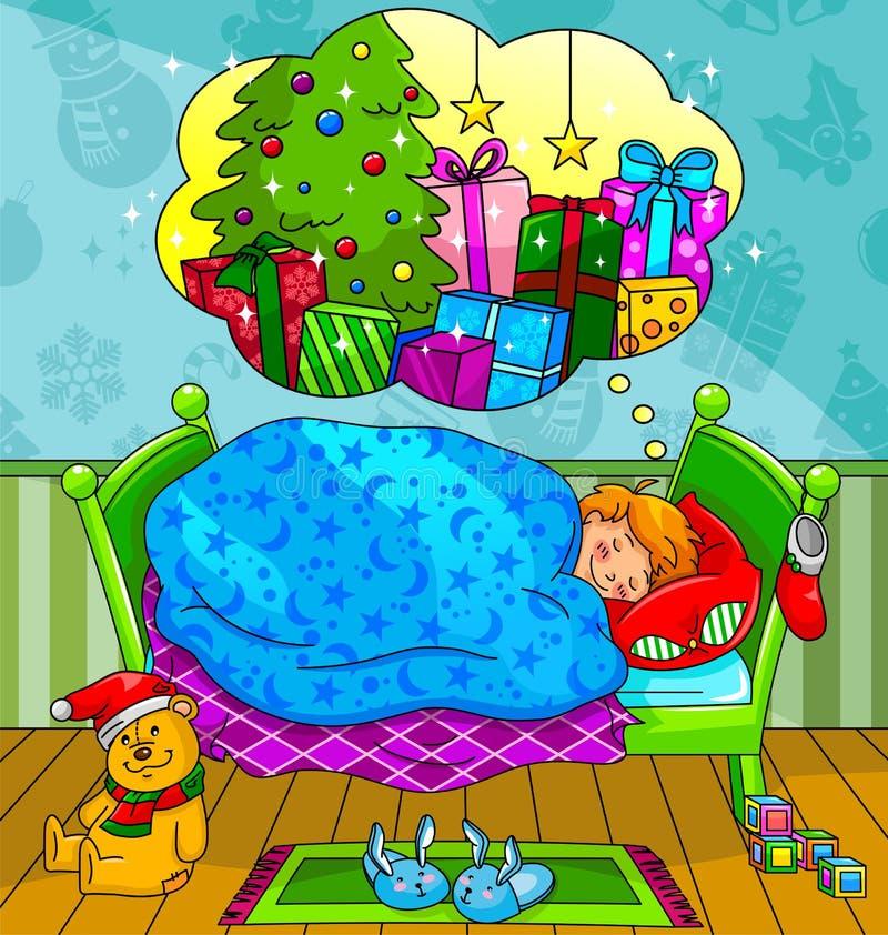Sogni di natale royalty illustrazione gratis