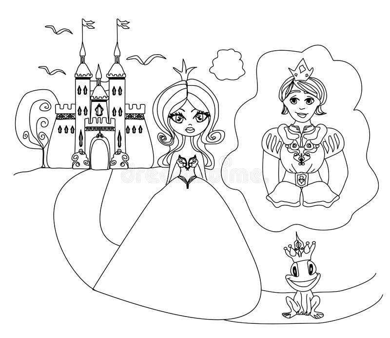 Sogni di principessa di un principe royalty illustrazione gratis