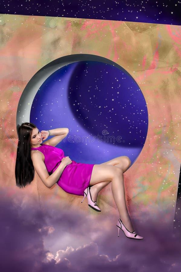 Sogni viola Pinky immagine stock