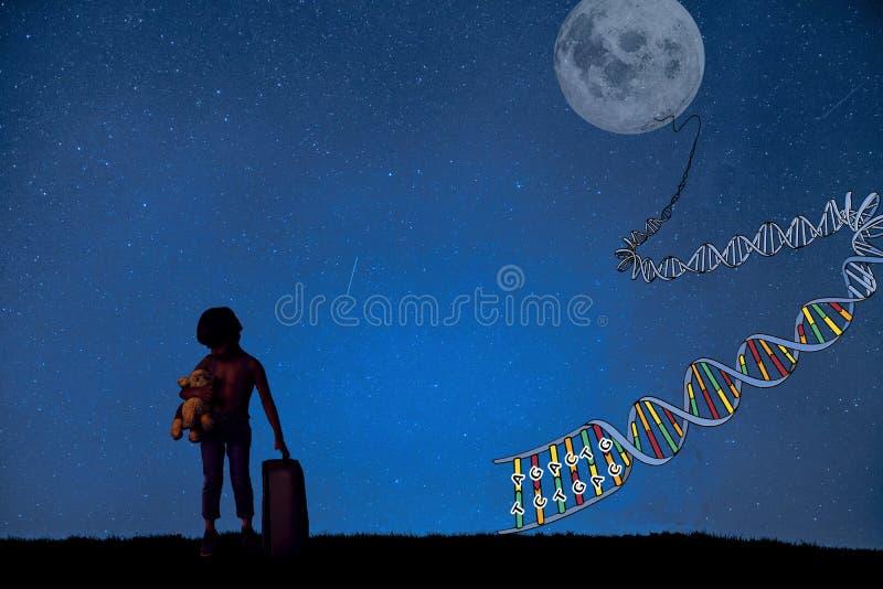 Sogno dei giovani, oggetto biomedico illustrazione vettoriale