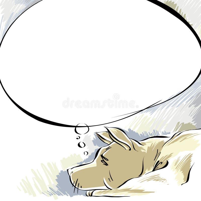 Sogno del cane. illustrazione vettoriale