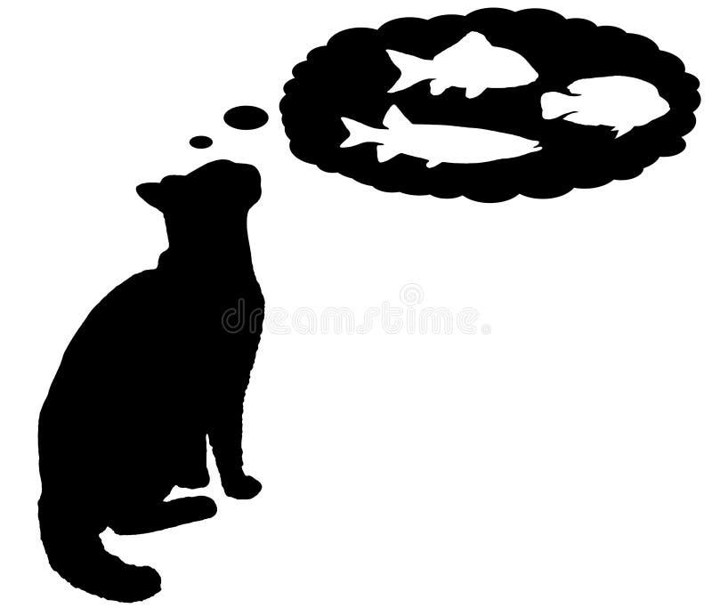 Sogno del gatto illustrazione di stock
