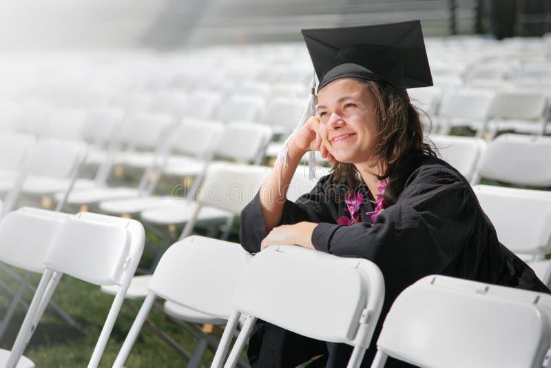 Sogno del laureato fotografia stock libera da diritti
