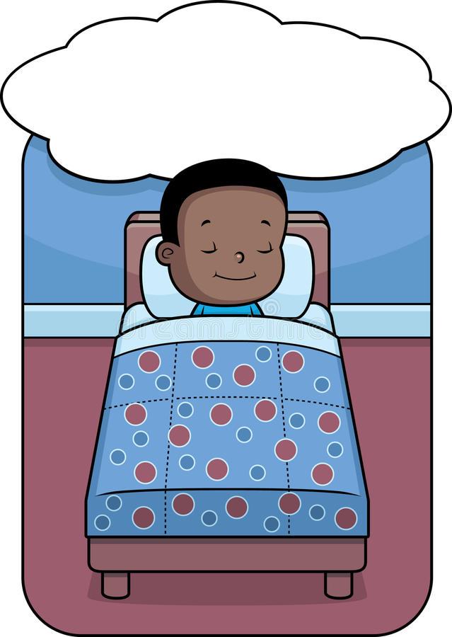 Sogno del ragazzo illustrazione di stock