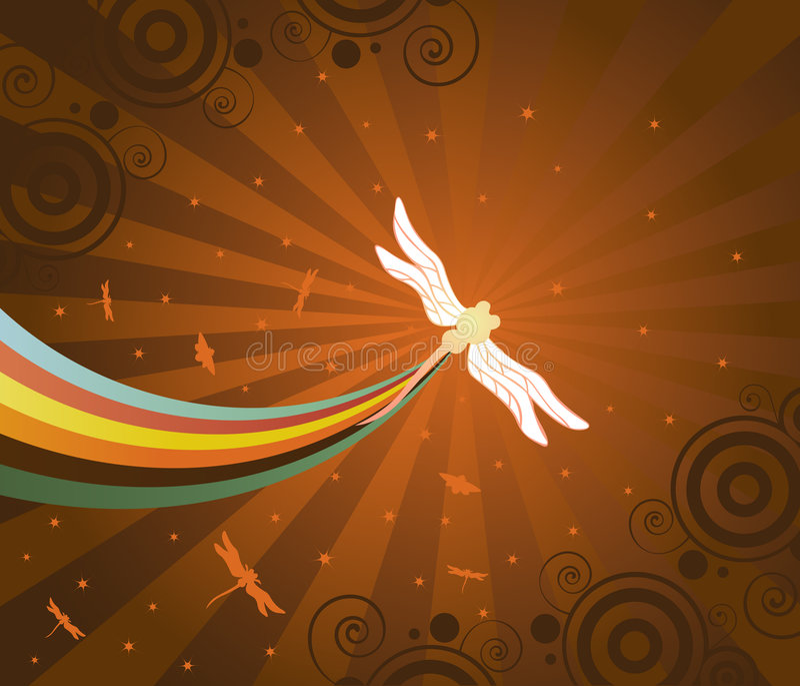 Sogno delle libellule illustrazione vettoriale