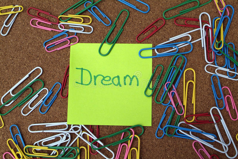 Sogno di affari e concetto di visione immagini stock libere da diritti