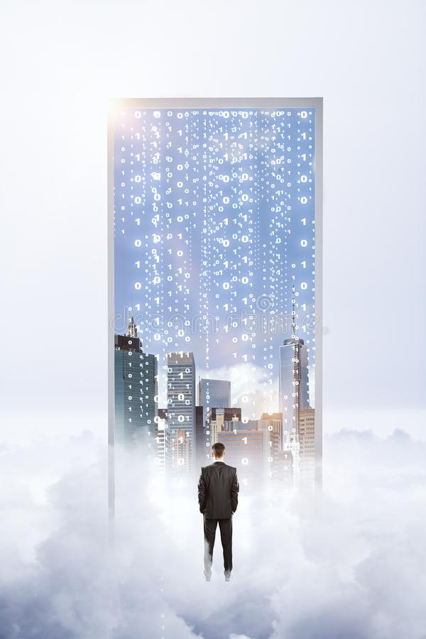 Sogno e concetto del Cyberspace fotografie stock