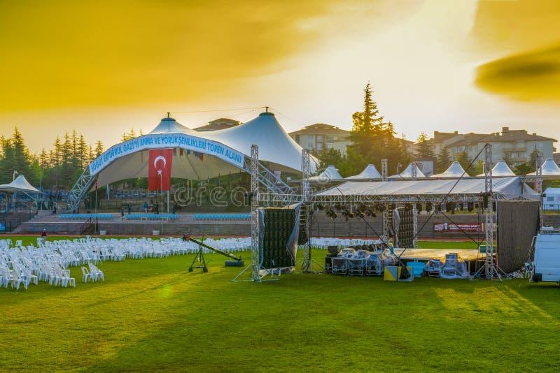 Sogut, Bilecik / Turkey - September 08 2019: Preparation of Celebrations to commemorate Ertugrul Gazi, Yoruk Festival stock images
