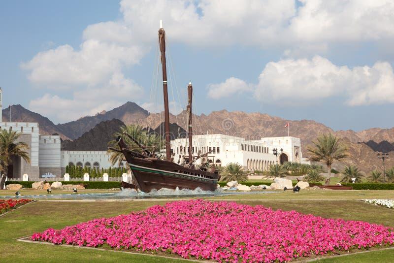 Sohar fartyg i Muscat, sultanat av Oman arkivbild