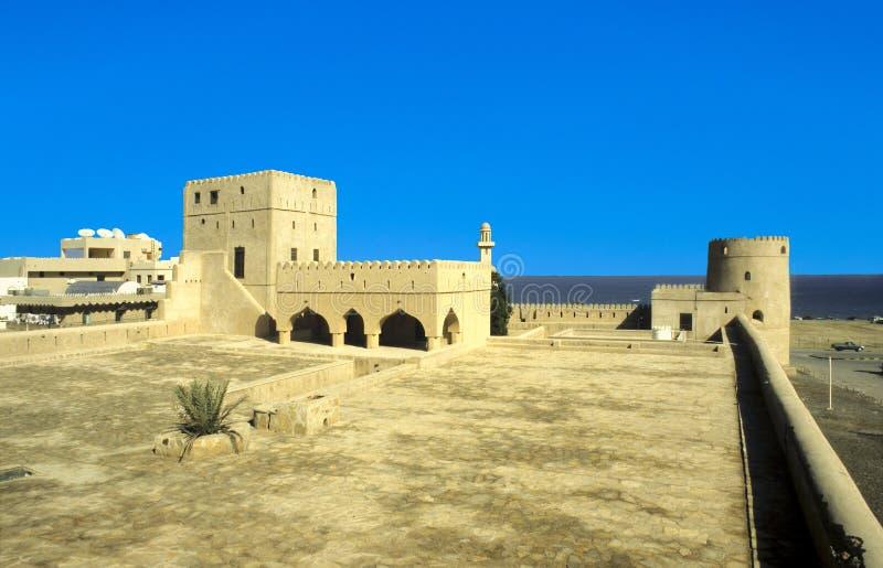 Sohar fort Oman Slott royaltyfria bilder