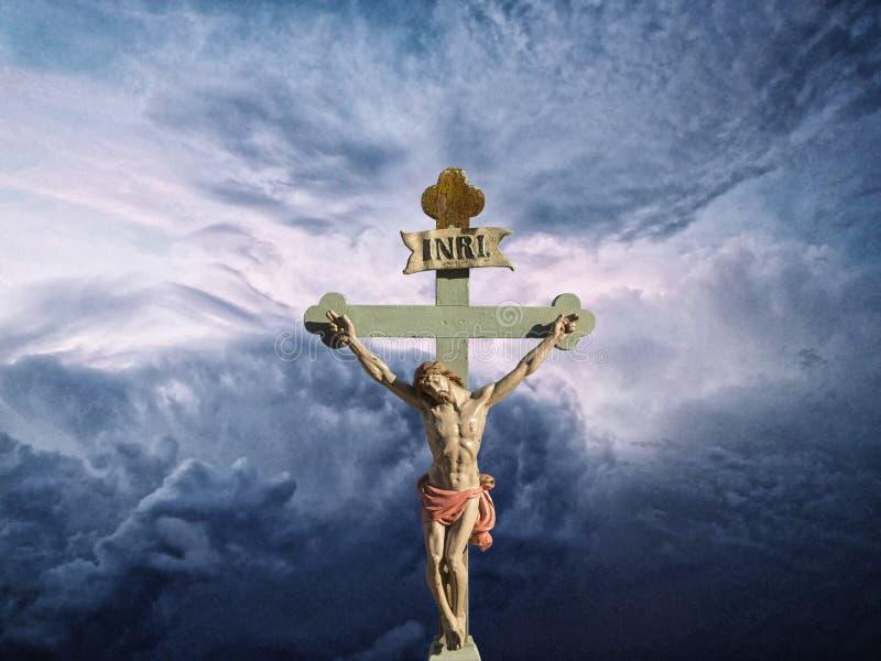 Sohn Jesus Christs INRI des Gottes stock abbildung
