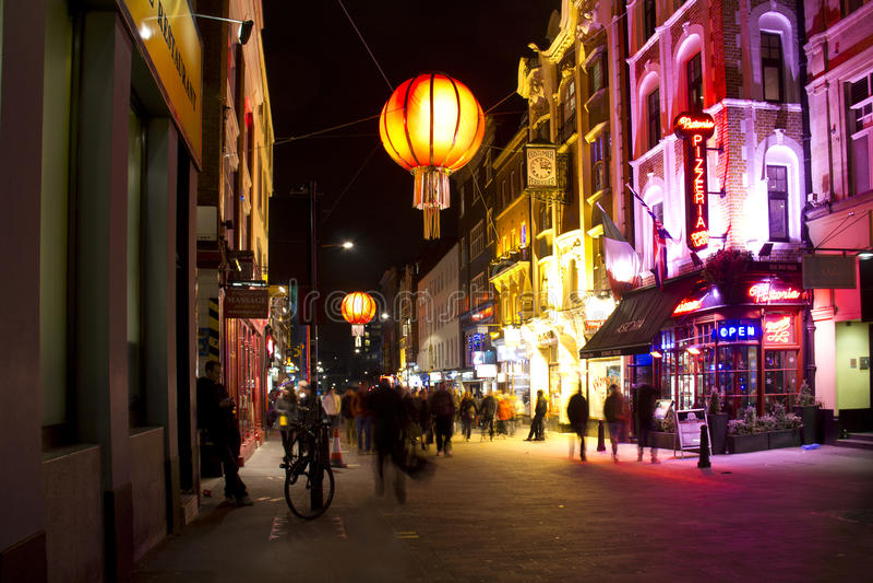Soho夜生活在伦敦,英国 免版税图库摄影