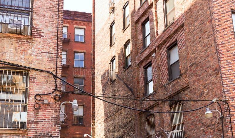 Soho building facades in Manhattan New York City royalty free stock image