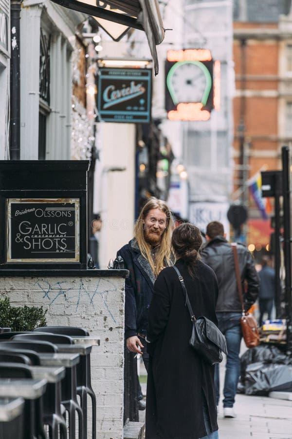 Soho Eclectische Mensen - Londen stock afbeelding