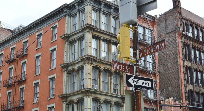 SoHo för område för höft för New York City gataBroadway shopping moderiktig trendig Lower East Side Manhattan royaltyfria bilder