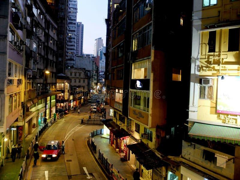 Soho Hong Kong seen from Mid Level Escalators stock image