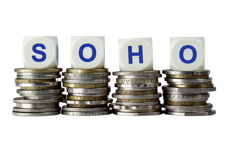 SOHO - Small Office Home Office Stock Photo - Image of small, white ...